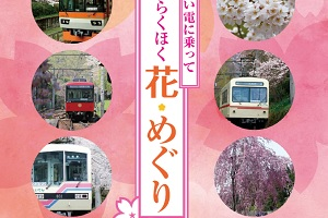 えい電に乗って 京都らくほく 花・めぐり