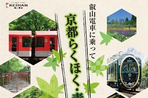 叡山電車に乗って 京都らくほく・青もみじ
