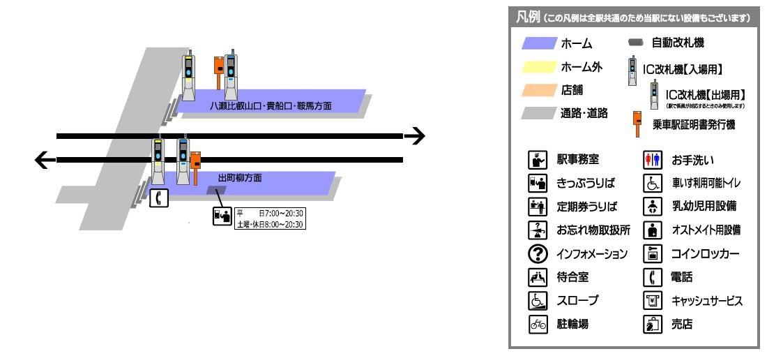 一乗寺駅構内図