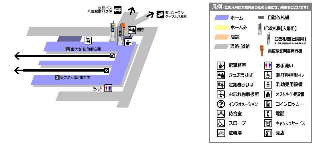 八瀬比叡山口駅構内図